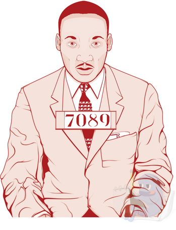 Martin Luther King Illustration by AVRART