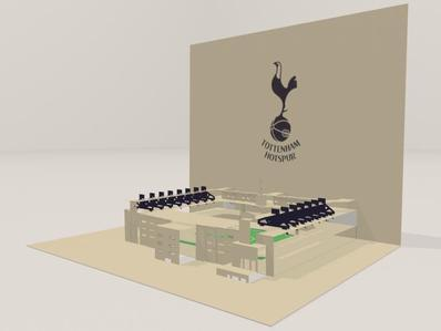 3D screenshot of the Tottenham Hotspur FC: White Hart Lane Stadium 03 by AVRART